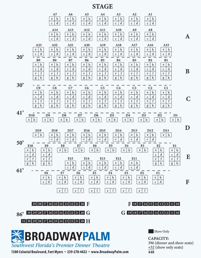 Seating Charts - Broadway Palm Dinner Theatre