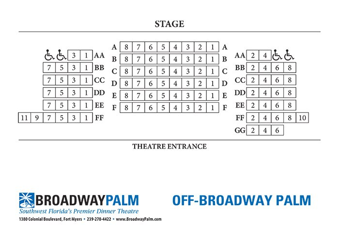 Off Broadway Palm Theatre (100% Capacity)